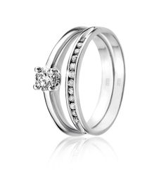 #myNWJwishlist 9ct Gold 0.25ct Diamond Solitaire Ring R5,499 (Left) and 9ct Gold Diamond Channel Band R1,398 (Right)  *Prices Valid Until 25 Dec 2013