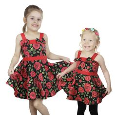 Little Miss Elinor -Red Rose Mekko