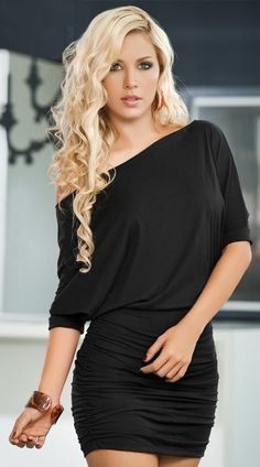 Merry See Şık Siyah Mini Elbise MS2944