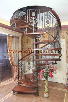 Винтовые лестницы с дубовыми ступенями
