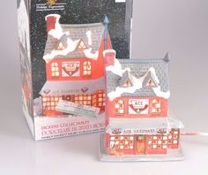 Dickens Collectables Porcelain Light House Ace Hardware Store Christmas Village