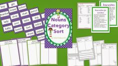 Nouns Category Sort - Love this idea!!