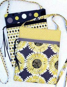 Shoulder purse from fat quarters