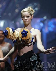 Bizarre Bras ~ Is this an IHop Blueberry Pancake Bra? This could give Hooters a run for its money