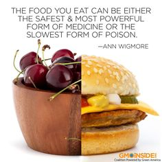 Our health is defined by what we eat. No one has ever became overweight or unhealthy from eating fruits and vegetables!