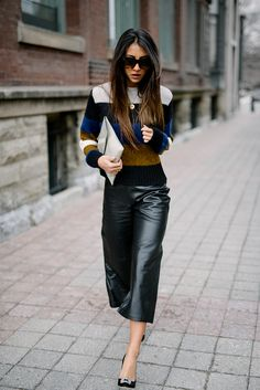 leather cropped pants l  Not Your Standard