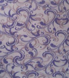 Blizzard Fleece Print- Multi Florish & fleece fabric at Joann.com