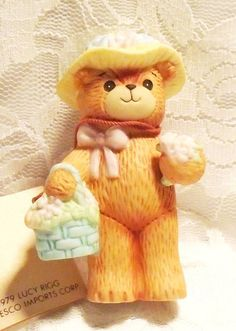 Lucy and Me Easter Figurine ENESCO Easter Bear by MrsFullersAttic
