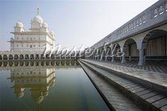 Reflection of Gurudwara in water, Sikh Temple, Gwalior, Madhya Pradesh, India