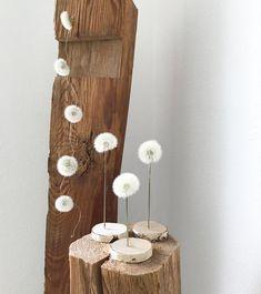 with line and thread: make dandelion durable as a gift .- mit Strich & Faden: Pusteblume haltbar machen zum Verschenken with line and thread: make dandelion durable as a gift -