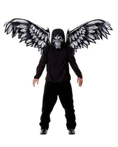 Fallen Angel Mask and Wings Costume Please note: This item's color may vary due to inherent manufacturing variations or your computer monitor's color settings. The item you receive will be identical or substantially similar to the item pictured in this listing..  #California_Costumes #Apparel
