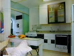 Cocina Double Vanity, Floor Plans, Kitchen Appliances, Flooring, Table, Furniture, Modern Homes, Home Decor, Ideas