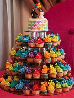 colors are fab! Beautiful Wedding Cakes, Beautiful Cakes, Amazing Cakes, Fancy Cakes, Cute Cakes, Fondant Cakes, Cupcake Cakes, Neon Cakes, Rainbow Food