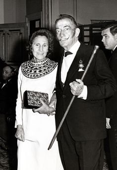 Gala and Salvador Dali, Paris, 1970s