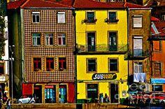 New print available on fineartinternational.com! - 'Subway Porto - Digital Oil' by Mary Machare -