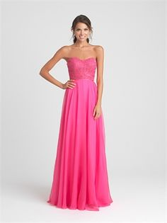 A-line Strapless Beading in the bodice Chiffon Prom Dress PD12146