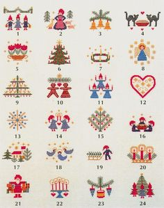 Small Cross Stitch, Cross Stitch Designs, Cross Stitch Patterns, Christmas Cross, Diy Christmas Gifts, Cross Stitching, Cross Stitch Embroidery, Stitch Witchery, Christmas Embroidery