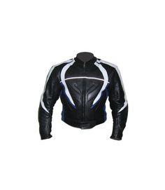 Sports Premium Men's Black Motorcycle Leather Jacket