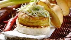 Thai Chicken Burgers with a Coleslaw Topping