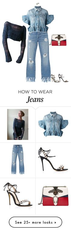 """""""Untitled #752"""" by diaval on Polyvore featuring 3x1, Monique Lhuillier, MSGM and Gucci"""