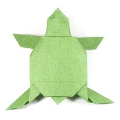 How to make an origami turtle (http://www.origami-make.org/origami-turtle.php)