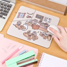Pusheen Cat Cafe mouse pad
