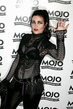 Siouxie Sioux in black lace at Mojo awards