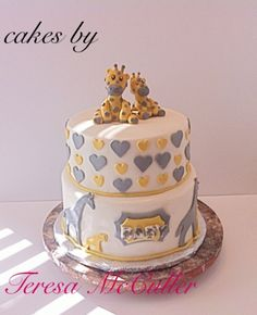 giraffe baby shower cakes