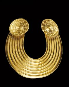 "A History of Ireland in 100 Objects – 12. Gleninsheen gold gorget, c.800-700BC - ""The Gleninsheen gorget is a technical and artistic achievement at the apex of goldworking in the Europe of its time."""