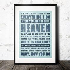 Personalized Favourite Music Lyrics Word Art Pop Typography