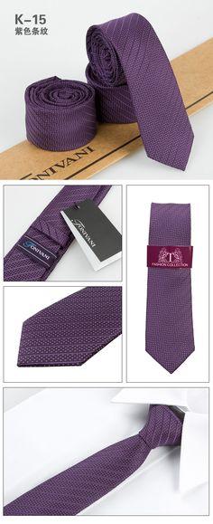 low price purple and white dot stripe mens silk skinny neckties K15