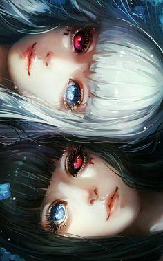 Sisters Kuro and Shiro / Tokyo Ghoul Anime Art ghoul Kuro Shiro Sisters tokyo Manga Anime, Art Manga, Fanarts Anime, Anime Eyes, Anime Characters, Yandere Manga, Manga Books, Manhwa Manga, Anime Fantasy