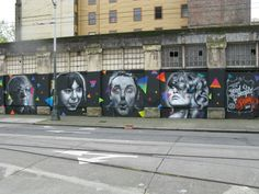 Final of the 2nd and Main Cannery Building Mural.  Michael T by: Weirdo, Ana D by: Joey Nix, Michael D by: Weirdo, Taylor by: Joey Nix, Dedication by: Weirdo.  #Weirdo #Spraypaint #seattlemurals
