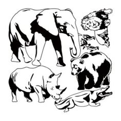 "Style and Apply Zoo Animal Set Wall Decal Size: 25"" H x 24"" W, Color: Copper"
