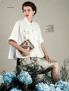 rustic femininity: iulia cirstea and anka kuryndina by filippo del vita for the south china morning post style.