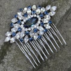 I like the idea of incorporating 'something blue' into your wedding day with a vintage sapphire comb... Thanks Twilight.