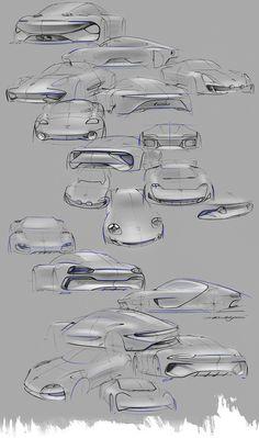 Porsche 911 Turbo Hybrid Concept Design Sketches by David Khachatryan