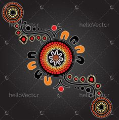 Aboriginal art vector painting. #aboriginal #indigenous #art #painting