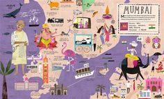 Mumbai >City Atlas: Discover the personality of the world's best-loved cities in this illustrated book of maps-Georgia Cherry / Martin Haake
