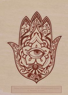 Hamsa, or the Hand of Fatima, protects against the evil eye. Ink on bristol. Hamsa Hand Tattoo, Hand Tattoos, Hamsa Tattoo Design, Hamsa Art, Hamsa Design, Henna Tattoo Designs, Tattoo Designs For Women, Tattoo Ideas, Tattoo Ink