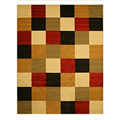 @Overstock - This rug features a striking geometric design in a bold red color to accent your living space. Made of polypropylene, this rug is easy to care for and ensures long lasting durability.  $50.99
