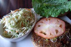 Vegan lentil burgers. Thanks, Pam!