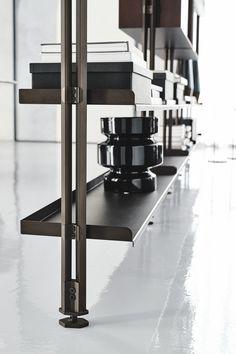 Hanging Cabinet, Hanging Shelves, Home Library Design, Shelving Design, Modular Walls, Shelf System, Ceiling Hanging, Residential Interior Design, Cabinet Furniture