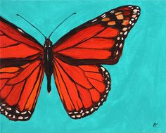 would be lovely painted LARGE scale on a wall in *her*(? Butterfly Painting, Monarch Butterfly, The Originals, Awesome Things, Scale, Trees, Etsy, Paintings, Inspiration