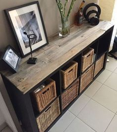Dress up an IKEA piece of furniture with pallets! 20 examples of inspirations - DIY Crafts - Dress up an IKEA piece of furniture with pallets! 20 examples of inspirations # Ideenfü - Ikea Furniture Hacks, Pallet Furniture, Home Furniture, Ikea Hacks, Ikea Furniture Makeover, Furniture Stores, Antique Furniture, Diy Hacks, Furniture Projects
