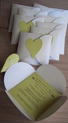 Invitation card heart - wedding cards from Kartenmanufaktur-Arndt - wedding cards . Invitation card heart - wedding cards from Kartenmanufaktur-Arndt - wedding cards - wedding - DaWanda STEP-BY-STEP INSTR. Wedding Invitation Cards, Wedding Stationery, Wedding Cards, Party Invitations, Diy Paper, Paper Crafting, Diy Wedding Programs, Diy Cards, Diy Gifts