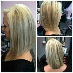 Corte estilo bob en cabello largo... Muy lindo!