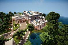 Modern Island Minecraft Home