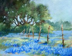 Mary Shepard - Portfolio of Works: Oil/Acrylic Paintings Landscape Drawings, Landscape Art, Landscape Paintings, Landscapes, Blue Bonnets, Paintings I Love, Acrylic Art, Watercolor Paintings, Acrylic Paintings