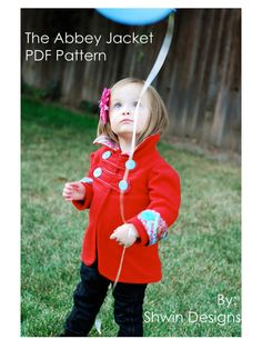 "The ""Abbey"" Jacket PDF pattern (12m - 4T) -- Just bought this pattern and can't wait to use it!"